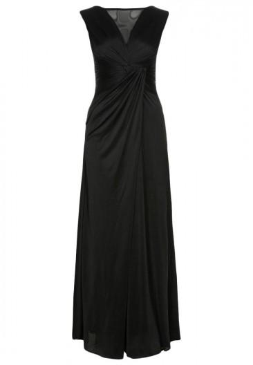 Lang sort kjole