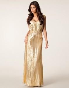 Guld kjole