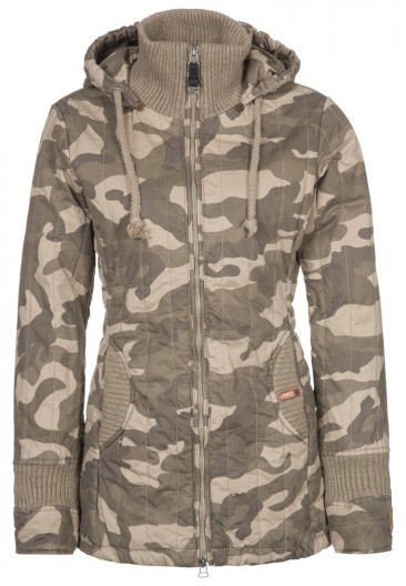 Flot army jakke til kvinder