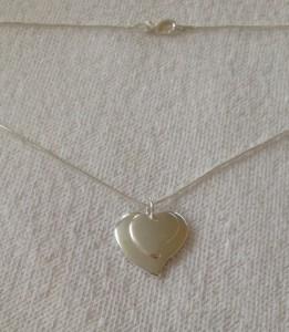 Hjerte sølvhalskæde